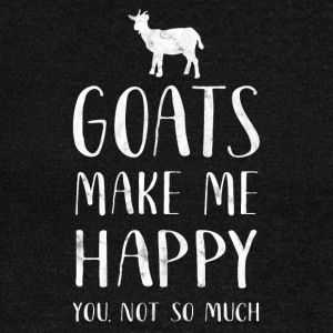 Goats make me happy, you are so much - Goat Shirt - Women's Boat Neck Long Sleeve Top