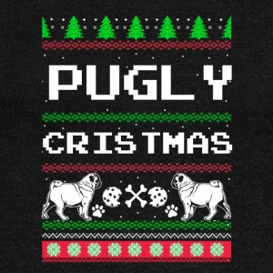 Pugly Christmas - Women's Boat Neck Long Sleeve Top