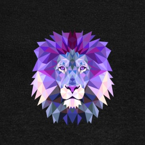 Lion purple lion king mandala yoga hypnosis head solid - Women's Boat Neck Long Sleeve Top