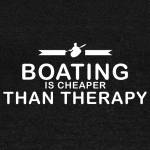 Boating is cheaper than therapy - Women's Boat Neck Long Sleeve Top