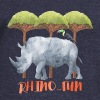 Rhino-FUN Rhino animal fun illustration of Africa - Women's Boat Neck Long Sleeve Top