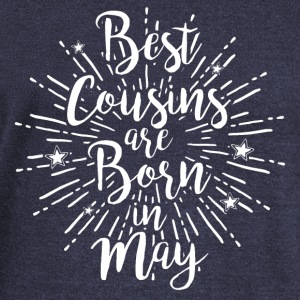 Best cousins ​​are born in May - Women's Boat Neck Long Sleeve Top