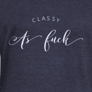 Classy as fuck - Women's Boat Neck Long Sleeve Top