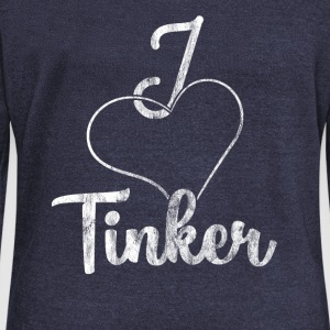 I love Tinker - Women's Boat Neck Long Sleeve Top