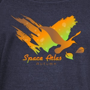 Space Atlas T-shirt Autumn Leaves - Women's Boat Neck Long Sleeve Top