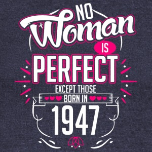 No Woman is perfect except those born in 1947 - Women's Boat Neck Long Sleeve Top
