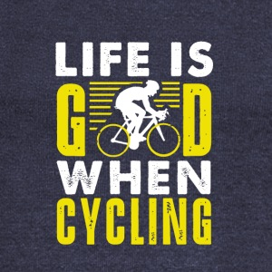 Life is good when cycling - Women's Boat Neck Long Sleeve Top