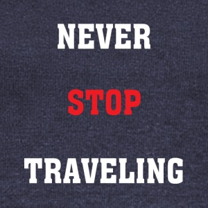 Never Stop Travelling - Women's Boat Neck Long Sleeve Top