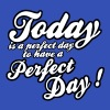 today is a perfect day T-Shirts - Men's Organic V-Neck T-Shirt by Stanley & Stella
