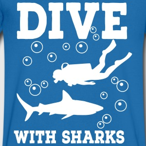 diving - Men's Organic V-Neck T-Shirt by Stanley & Stella