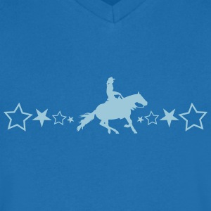 Slider horse with stars - Men's V-Neck T-Shirt