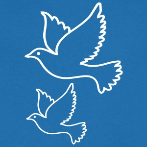 dove of peace - Men's Organic V-Neck T-Shirt by Stanley & Stella
