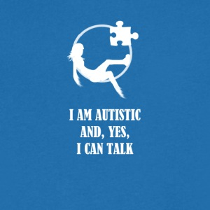 I AM AUTISTIC AND I CAN TALK - Men's Organic V-Neck T-Shirt by Stanley & Stella