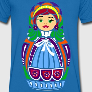 Matryoshka Doll - Men's Organic V-Neck T-Shirt by Stanley & Stella