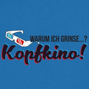 Why I smile? Kopfkino! (3D glasses) - Men's Organic V-Neck T-Shirt by Stanley & Stella