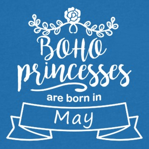 Boho Princesses are born in May - Men's Organic V-Neck T-Shirt by Stanley & Stella