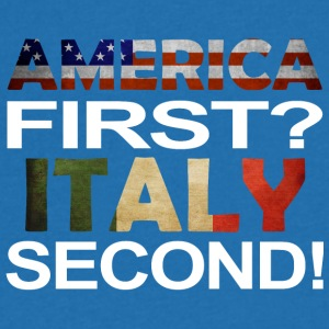 America first Italy second - Men's V-Neck T-Shirt
