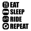 eat_sleep_ride_repeat_5_1f - Camiseta ecológica hombre con cuello de pico de Stanley & Stella