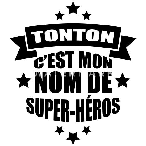 Populaire préféré tonton c'est mon nom de super-héros T-shirt bio col V Homme #JJ_71
