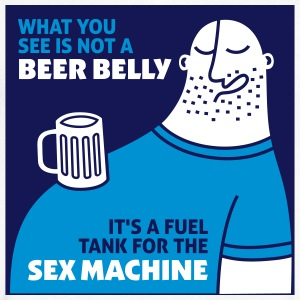 That's Not My Beer Belly! It's A Fuel Tank! - Men's V-Neck T-Shirt