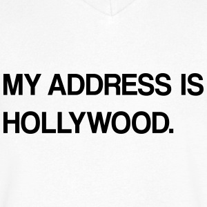 hollywood design - Herre T-shirt med V-udskæring