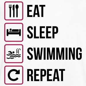 Eat Sleep Swimming Repeat - T-shirt med v-ringning herr