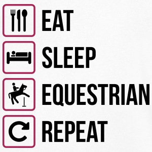 Eat Sleep Repeat Equestrian - Herre T-shirt med V-udskæring