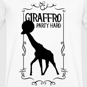 Giraffro party hard - Men's V-Neck T-Shirt