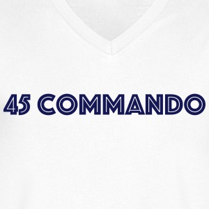 45 Commando 2 - Men's Organic V-Neck T-Shirt by Stanley & Stella