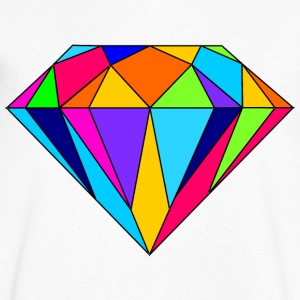 diamant coloré - T-shirt Homme col V