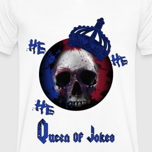 QUEEN OF JOKES - T-shirt bio col en V Stanley & Stella Homme