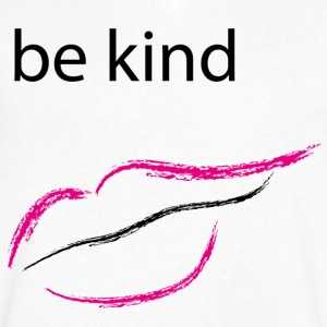 Be kind mouth - Men's Organic V-Neck T-Shirt by Stanley & Stella