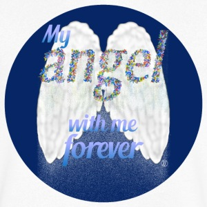 My angel with me forever - Men's V-Neck T-Shirt