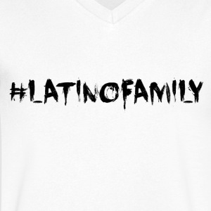 #latinofamily - Men's Organic V-Neck T-Shirt by Stanley & Stella