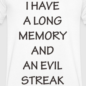 HAVE LONG MEMORY - Men's V-Neck T-Shirt