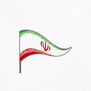 Iran Tehran flag country colors flag Persian - Men's Organic V-Neck T-Shirt by Stanley & Stella