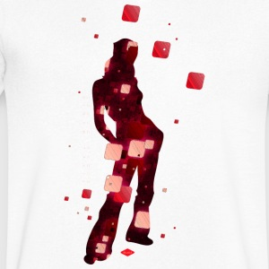 pixel mania - T-shirt Homme col V