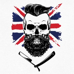 bearded union jack - Men's Organic V-Neck T-Shirt by Stanley & Stella