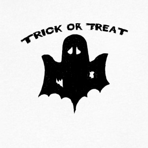 trick or treat Trick or Treat Halloween - Men's Organic V-Neck T-Shirt by Stanley & Stella