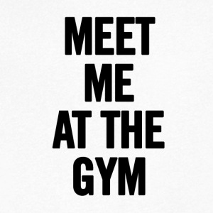 Meet Me At The Gym - Maglietta da uomo con scollo a V