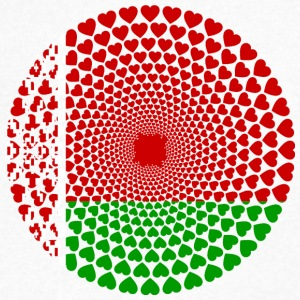 Belarus Belarus Беларусь Love heart Mandala - Men's V-Neck T-Shirt