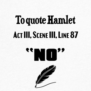 Quoting Hamlet Act III Scene III Line 87 - Men's V-Neck T-Shirt