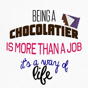 Being a chocolatier is more than a job - Men's Organic V-Neck T-Shirt by Stanley & Stella