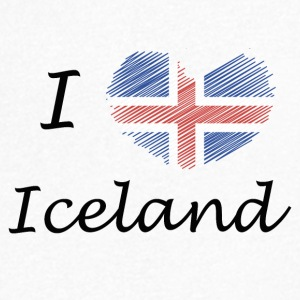 I love Iceland I love Iceland - Men's V-Neck T-Shirt