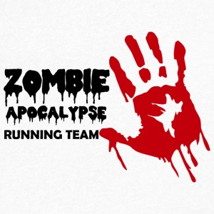 Zombie: Zombie Apocalypse Running Team - Men's Organic V-Neck T-Shirt by Stanley & Stella
