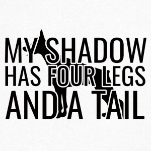 Dog / Doberman: My Shadow Has Four Legs And A - Men's V-Neck T-Shirt