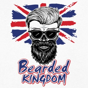 UK beard - Men's Organic V-Neck T-Shirt by Stanley & Stella