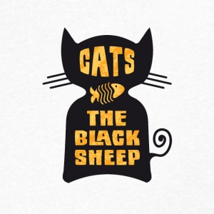 CATS - The Black Sheep - Men's Organic V-Neck T-Shirt by Stanley & Stella