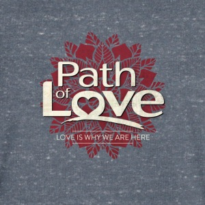 Path of Love - Men's Organic V-Neck T-Shirt by Stanley & Stella