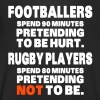Footballers Pretend to Be Hurt - Men's Organic V-Neck T-Shirt by Stanley & Stella